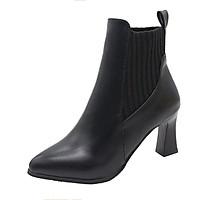 Giày boot nữ cổ thấp thiết kế theo phong cách Hàn Quốc GIAY.CG8016