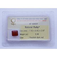 Mặt Đá Ruby Tự Nhiên Mài Giác Chữ Nhật