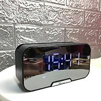 Loa Bluetooth Mặt Gương Kiêm Đồng Hồ Báo Thức  V5.0 VINETTEAM - Có Khe Cắm Thẻ Nhớ -FM-Phiên Bản Mới 2020- Hàng Nhập Khẩu
