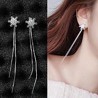 Bông tai hình hoa tuyết thả dài tua rua điệu đà thời trang cho nữ B19