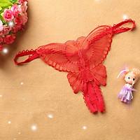 Quần lọt khe bướm, quần chip ren bướm sexy - Đỏ