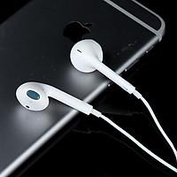 Tai nghe dành cho iPhone 5/5s/6/6s chất lượng âm thanh tốt , jack cắm chuẩn 3.5mm ( Trắng) - Hàng chính hãng
