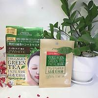 Đắp mặt nạ tái tạo da tinh chất trà xanh & collagen J'WHITE Nhật Bản 8 miếng