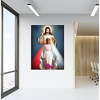 Decal dán tường Chúa Jesus và Đức Mẹ Maria dang tay ban ơn