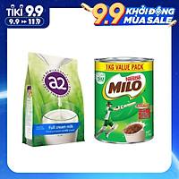 Combo Sữa Bột A2 Nguyên Kem (1kg) và Milo Úc (1kg)