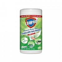 Khăn ướt Kháng Khuẩn CHỨA CỒN - Gia dụng Läupro – Lau Đa Năng - Hộp 80 Khăn (Laupro) - Được kiểm nghiệm & chứng nhận!
