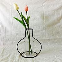 Khung sắt uốn trang trí hoa