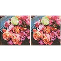 Combo 2 Xấp Khăn Giấy Ăn Trang Trí Bàn Tiệc Tissue Napkins Design Ti-Flair 344037 (33 x 33 cm) - 40 tờ