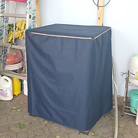 [Vải Dù Xịn Không Nổ Vỏ] Áo Trùm Máy Giặt Cửa Trên Bọc Máy Giặt Cửa Đứng Vải Dù Siêu Bền Chống Thấm Chống Nắng Cho Máy Giặt Trên 12kg Kích Thước 75x75x100 cm