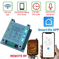 BỘ ĐIỀU KHIỂN WIFI 4 THIẾT BỊ HES SMART 4CH-SW Smart life APP Có Remote RF