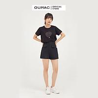 Áo thun nữ GUMAC ATB824 in họa tiết năng động dễ thương