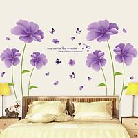 Giấy dán tường phòng ngủ hoa tím sang trọng