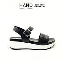 HANO - Sandal đế Xuồng quai ngang 5cm Da cao cấp xuất xịn SD0079