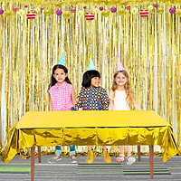 Gold / Silver / Red Table Cover for Party Photo Wedding Decoration