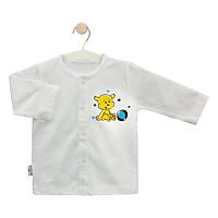 Áo cài giữa trắng tay dài 0001 (hình in ngẫu nhiên) - HELLO B&B