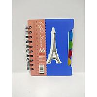 Sổ Lò Xo Phân Trang Eiffel Tower A6
