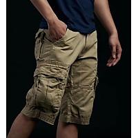 Quần Shorts Kaki Nam Túi Hộp Phong Cách Mạnh Mẽ