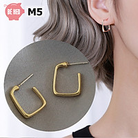 Bông tai nữ phong cách Hàn Quốc, khuyên tai tròn, Trang sức Bé Heo BHBT461