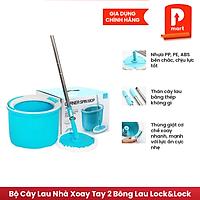 Bộ Cây Lau Nhà Xoay Tay 2 Bông Lau Lock&Lock Corner ETM494 (330 x 235 mm) - Xanh Biển