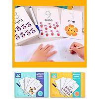 Thẻ học chữ cái và học số kèm tập viết cho bé