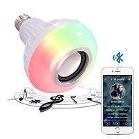 Bóng Đèn Led Kiêm Loa Phát Nhạc Bluetooth - đổi màu bằng điều khiển-hàng chính hãng