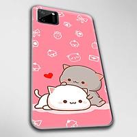 Ốp lưng dành cho Realme C11, Realme C12, Realme C15, Realme C17 mẫu Mèo mập nền hồng