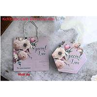 Hộp giấy lục giác đựng bánh Special Love (5 bộ)