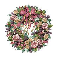 DIY Đóng Dấu Chéo Nữ Thời Trang Bộ Thêu Gói 14 Bá Tước-Beauful Hoa Hồng Vòng Hoa