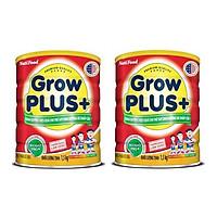 Bộ 2 Lon Sữa GrowPLUS+ Đỏ Cho Trẻ Suy Dinh Dưỡng Trên 1 Tuổi - 1.5kg