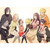 Poster A4 dán tường Anime, decal 21x30 trang trí có keo Boruto Naruto the Movie Wallpapers (1).jpg