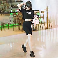 Quần legging lửng nữ - Kiểu quần legging ngố đùi - Nâng mông cạp cao siêu hót siêu co dãn chất cotton loại 1 bigsize