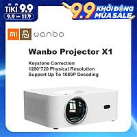 [Global Version] XIAOMI Wanbo X1 1080P hỗ trợ điện thoại di động và máy chiếu xem phim đồng bộ (kết nối WiFi) 4K For Home Office