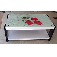 Bàn trà, bàn sofa mặt kính cường lực in hoa văn tinh tế hiện đại cao cấp - BT007