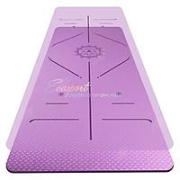 Thảm Định Tuyến TPE Tập Yoga, Gym, Thể Thao 6mm Cao Cấp Siêu Bền