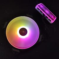 Quạt tản nhiệt, Fan case V3 Led RGB, quạt 12cm, chưa kèm theo bộ Hub khiển màu từ xa