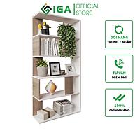 Kệ Sách Gỗ IGA Simple 6F Thông Minh - GP105
