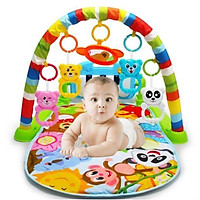 Thảm nhạc cho bé - Thảm chơi kèm đàn, kệ xúc xắc cho trẻ sơ sinh - Đồ chơi giáo dục, vận động