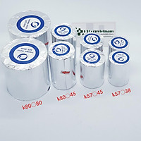 (100 cuộn) Giấy in hóa đơn  K58x38mm - Giấy in Bill K57x38mm dành cho Máy Cà Thẻ, Pos cầm tay, Máy In Bill Mimi