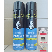 Combo 2 bình xịt sơn chống thấm trần nhà Bixuan dung tích lớn 1000ml, sơn chống thấm chống dột tường công nghệ Thụy Sĩ