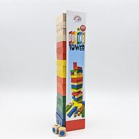 Bộ rút gỗ nhiều màu sắc cỡ lớn 60 thanh gỗ cao cấp