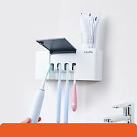Giá đỡ bàn chải đánh răng thông minh Xiaomi YouPin LIUSHU mới, Sấy khô bằng không khí, Khử trùng bằng tia UVC, Hộp đựng bàn chải đánh răng cảm ứng, có thể sạc lại