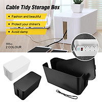 Mini Simple Cable Storage Box Case Wire Management Socket Safety Tidy Organizer Home Decoration