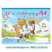 Vở vẽ ghim xé dán gáy A4 - 20 tờ; Klong 709 bìa xanh biển