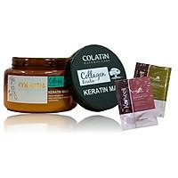 Kem ủ tóc Colatin Keratin hair mask phục hồi (dạng hũ) 500ml + Cặp gội xả gói 15mlx2