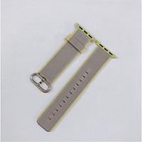 Dây đeo cho đồng hồ Apple Watch Woven Nylon màu Sọc Xám Vàng - 38/40mm