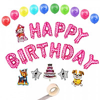 Combo bong bóng sinh nhật hình chó cứu hộ