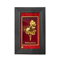 khung tranh 3d mạ vàng sbj sắc hồng hoàng kim 30 x 40 cm
