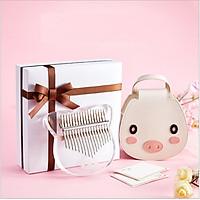 Hộp quà đàn kalimba 17 phím Pha lê trong suốt Pig & Cat Little IM11378- Đầy đủ phụ kiện, Âm vang ấm