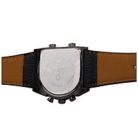 Oulm Man`s Fashion Watch with 3 Quartz Movement Dial Leather Band --HP9315 orange