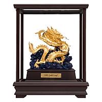 Tượng Rồng Phong Thủy Dát Mạ Vàng 24K